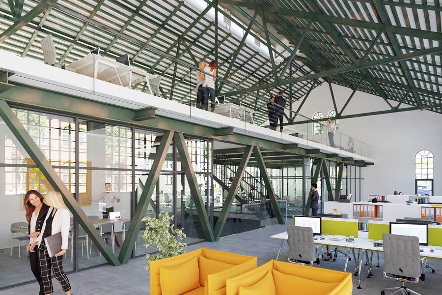 1 900m Loft Buro Munchen Freiham Im Denkmalgeschutzten Kesselhaus